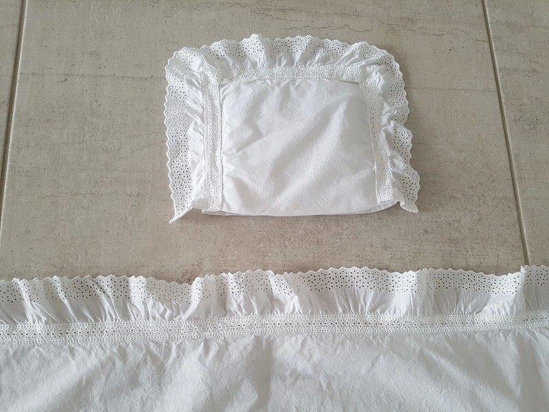 Zara Home Linge De Lit Belle Parure De Lit Berceau Blanc Et Dentelle Zara Home Vinted