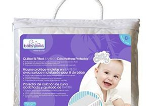 Amazon Lit Bebe Bel Quilted and Fitted Bamboo Crib Mattress Protector