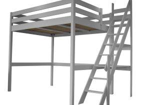 Echelle Pour Lit Mezzanine De Luxe Lit Mezzanine Adulte Ou Enfant Gris Alu Avec son Escalier De Meunier