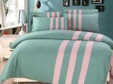 Linge De Lit Bleu Charmant Two Color Patchwork Blue Pink Purple orange Brown Turquoise