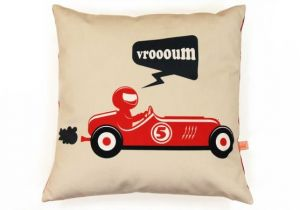 Lit Bebe Voiture Le Luxe Housse De Coussin Enfant Voiture Vintage Rouge