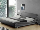 Lit Coffre Groupon De Luxe Lit 140×200 Cm Similicuir Blanc Avec éclairage Led Pierce Gdegdesign