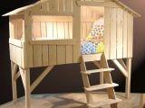 Lit En Bois Enfant Joli Lit Cabane Fille Fabriquer Lit Cabane Bois Rose Bonbon Chambre Fille