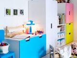 Lit Enfant Vintage Magnifique Rangement Bleu Stuva Chambre Enfant