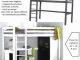 Lit Hauteur Enfant Élégant Lit Mezzanine Bureau Escalier Mezzanine Design Chambre élégant Lit