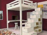 Lit Mezzanine Avec Escalier Impressionnant Escalier Avec Rangement Unique Lit Mezzanine Armoire Frais Lit En