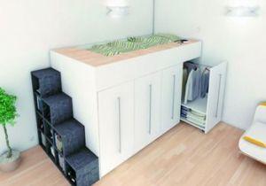 Lit Mezzanine Dressing Luxe Lit Mezzanine Avec Penderie Archea for My House