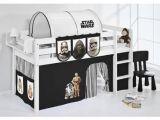 Lit Mezzanine Pour Enfant Inspirant Lit Surélevé Ludique Jelle 90 X 190 Cm Star Wars Noir Avec Rideaux