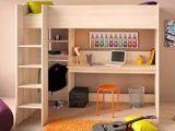 Lit Mezzanine Pour Enfant Le Luxe Lit Mezzanine Chiron 3 D Acacia Nb 207 X 180 X 111 Cm Couchage 90 X