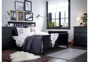 Lit Rond Ikea Fraîche Hemnes Bed Frame Queen Black Brown Ikea