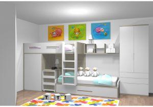 Lit Superposé Avec Armoire De Luxe Beau Chambre Enfant Lit Superposé  Lit Biné Armoire Fresh Lit