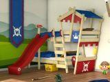 Lit toboggan Enfant De Luxe Lit Mezzanine Enfant Avec toboggan Cabane sous Le 8 Daccors Bebe
