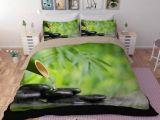 Parure De Lit Bebe Complete De Luxe Parure De Lit Zen 3d Bambou Galet Et Eau Achat Vente Parure De