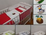 Parure De Lit Bebe Complete Joli Ensemble Set Plet 2 Pi¨ces Avec Broderie Parure De Lit 120x60cm