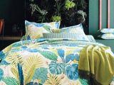 Parure De Lit Bleu Canard Agréable Parure De Lit Bleue Taie Percale Bali Blanc Des Vosges Bleu Canard