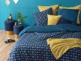 Parure De Lit Geometrique Beau Parure De Lit Imprimée Art Déco Bleue 240×220