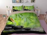 Parure De Lit Haut De Gamme Joli Parure De Lit Haut De Gamme Parure De Lit Zen 3d Bambou Galet Et Eau