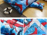 Parure De Lit Spiderman Bel Visit to Buy] Hot Cotton Bedding Set 4pcs Cartoon Printing Spiderman