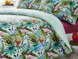 Parure De Lit Tropical Charmant Tropical Jungle Oiseaux Couette Imprimé Réversible Housse De Couette