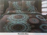 Parure De Lit Turquoise Luxe Housse De Couette Coton 220×240