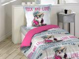 Parure Lit 140×200 Impressionnant Parure De Lit Enfant Girly Cat 140×200 Douceur D Intérieur