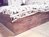 Tete De Lit Ikea Brimnes Nouveau My New Hacked Ikea Bed Ikea Brimnes with Wood Adhesive and